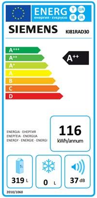 Energieverbruik Siemens K181RAD30