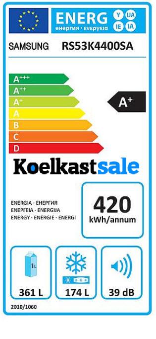 Samsung RS53K4400SA hoge energieverbruik