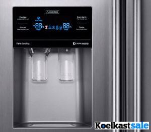 waterdispenser en ijsdispenser op de Samsung koelkast