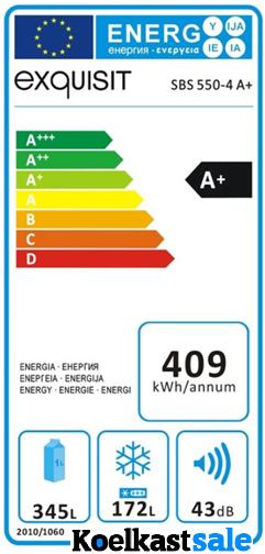 Exquisit SBS550-4A+ INOX en energieverbruik