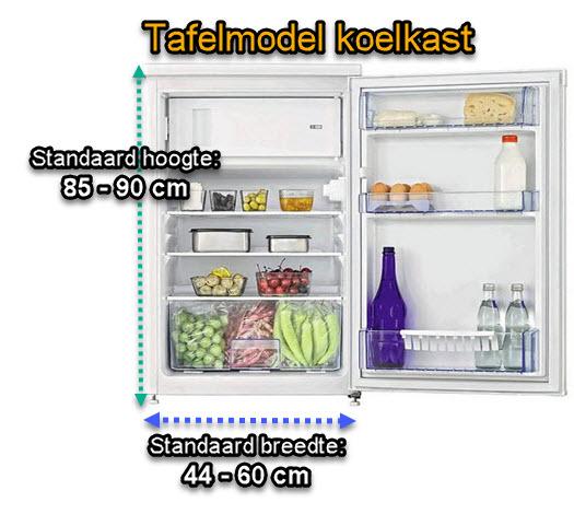 informatie over tafelmodel koelkast