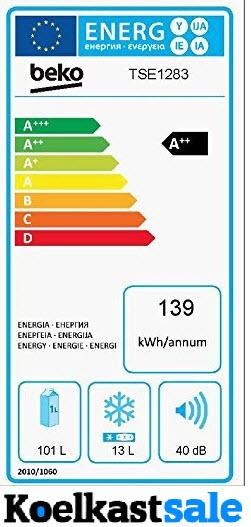 Hoge energieverbruik van de Beko koelkast