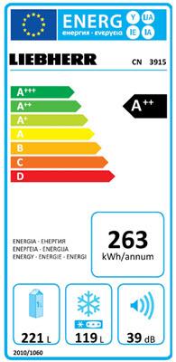 test energieverbruik Liebherr