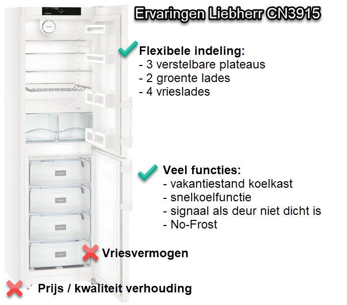 Liebherr CN3915 review - onze ervaringen met deze koelkast