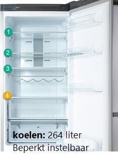instelbaarheid plateaus koelkast