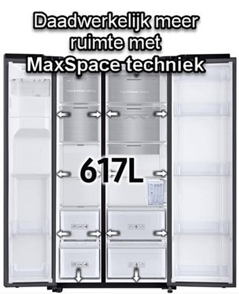 Meer binnenruimte: 617 liter met MaxSpace