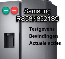 Uitgebreide Samsung RS68N8221S9 review met bevindingen. Alle plussen en minnen op een rij.