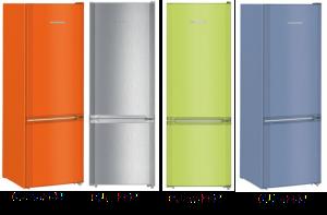 overzicht van beschikbare kleuren koelkasten Liebherr