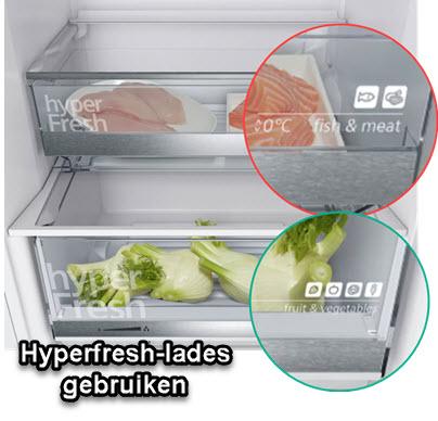 Nut en gebruik van de HyperFresh-lade